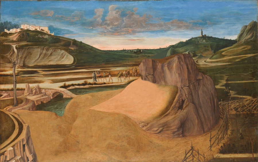 Giovanni Bellini: Christus am Ölberg, um 1458–60, Eitempera auf Holz, 81,3 x 127 cm © The National Gallery, London