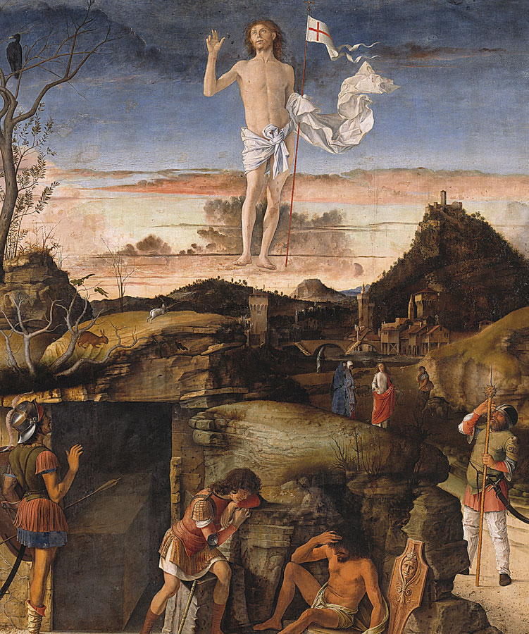 Giovanni Bellini: The Resurrection of Christ, 1475-79, oil on canvas, transferred from panel, 148 x 128 cm, © Staatliche Museen zu Berlin, Gemäldegalerie / Jörg P. Anders
